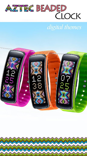 Aztec Beaded Gear Fit Clock