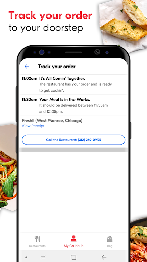 Screenshot for Grubhub: Local Food Delivery in United States Play Store