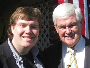 Photo: John Hawkins and Newt Gingrich. Myrtle Beach, SC. 10/29/11