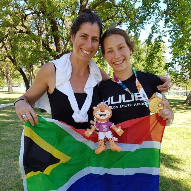 Youth Olympics gold medal winner Amber Schlebusch with her mum Robyn