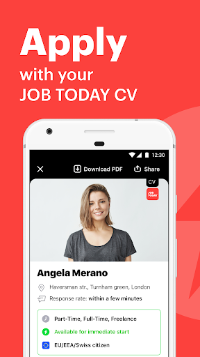 JOB TODAY: Find Jobs, Build a Career & Hire Staff 1.71.2 screenshots 1