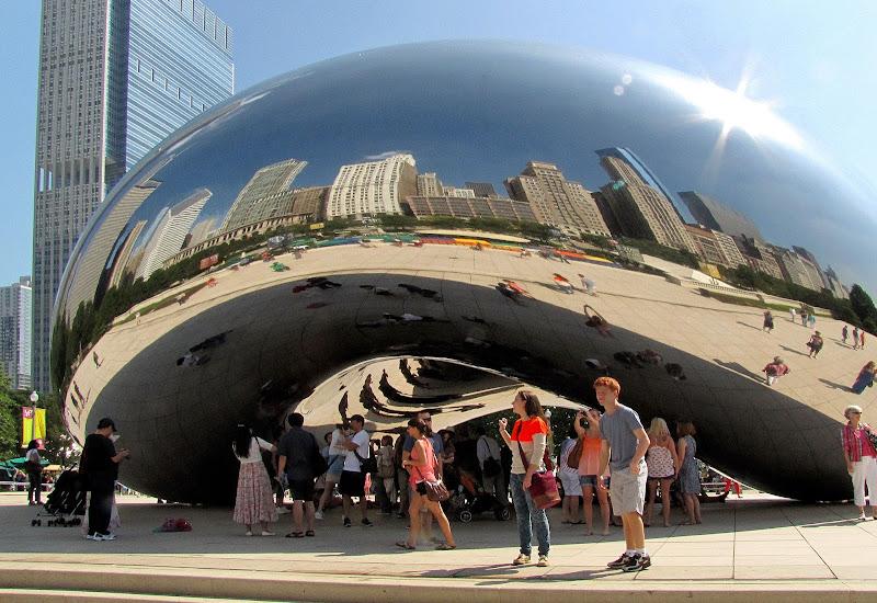 """Chicago. Un selfie nel """"fagiolo"""" di danisca"""