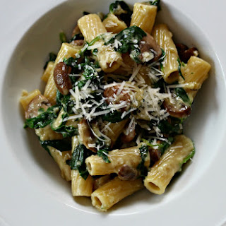 Spinach and Mushroom Pasta.
