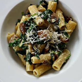Spinach and Mushroom Pasta.