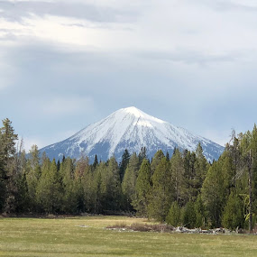 Mt McLoughlin  by Tracy Lynn Hart - Instagram & Mobile iPhone ( mountains, oregon, scenic, travel )