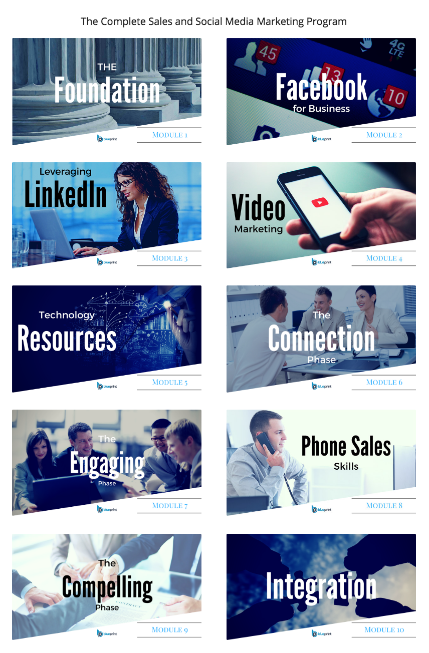 Blueprint offer sales and social media blueprint the ultimate online training course for busy sales professionals business owners malvernweather Gallery