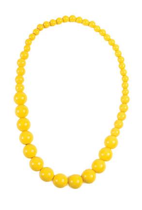 Pop Art halsband, gult