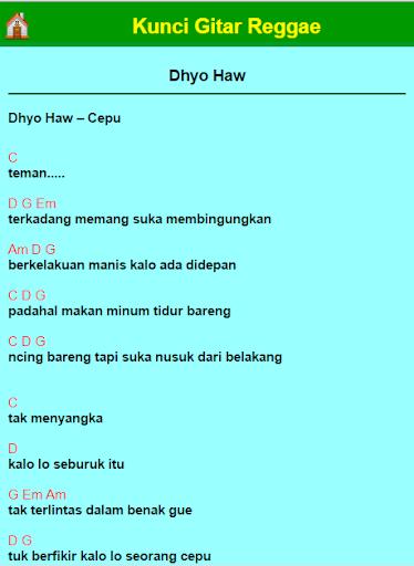 Kunci Gitar Lagu Dhyo Haw Cepu : kunci, gitar, Lirik, Arsia