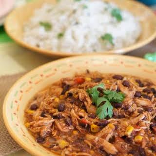 Crock-Pot Southwest Chicken Chili and Cilantro Lime Rice.