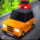 Blocky Car Racing: City Craft Traffic Race Driving icon