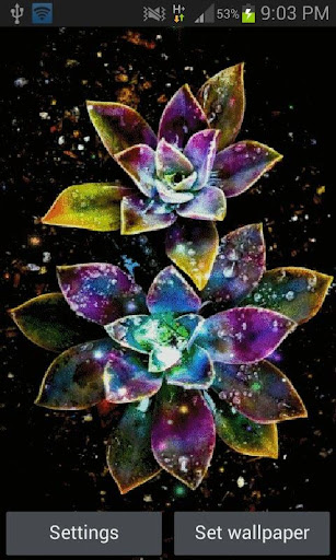 Abstract Magical Flowers LWP