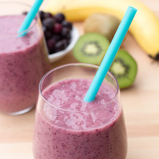 Healthy Purple Smoothie.
