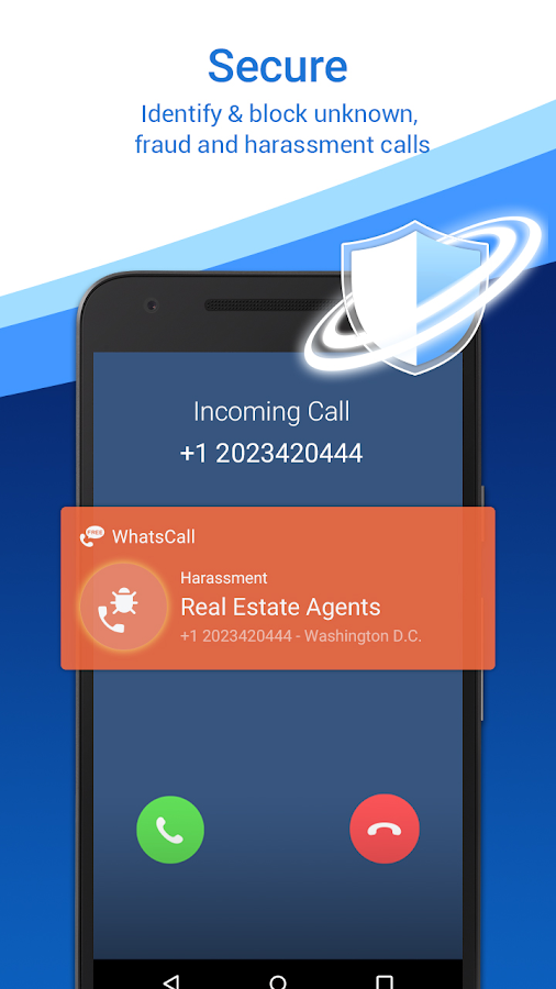 WhatsCall - Free Phone Call & Text on Free Number- screenshot