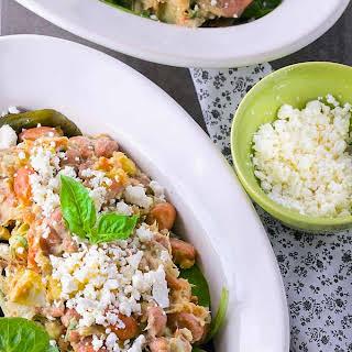 Healthy Mediterranean Tuna Avocado Salad (No Mayo Added).