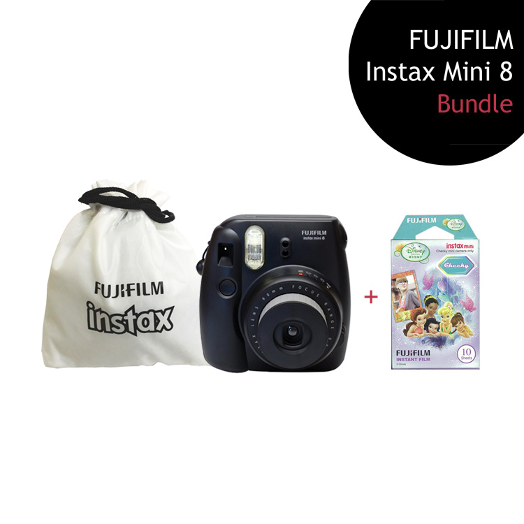 [Bundle] FUJIFILM Instax Mini 8 Camera (Black) + Fairy Film Pack + Instax Pouch by My Pocket Net Sdn Bhd