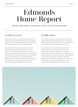 Real Estate Report - Newsletter item