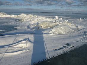 Photo: 016 Schaduw op het ijs Hjälmaren