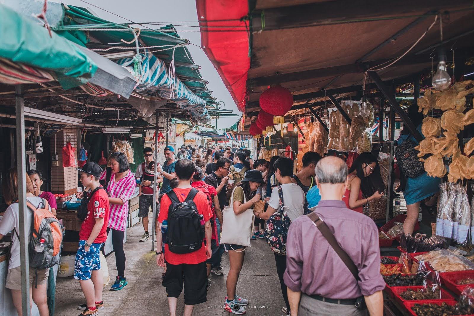 市集隨處可見魚貨和乾貨,來大澳感覺也是滿好買的。
