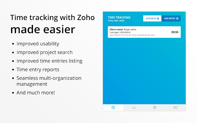 Zoho Easier Time Tracking