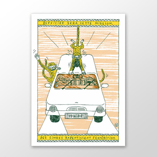 Affiche A5 Célia Portet éditions du maïs soufflé