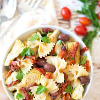 5-Ingredient Mediterranean Pasta Salad.