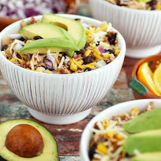 Crock-Pot Mexican Shredded Chicken with Black Beans & Corn.