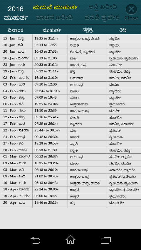 Calendar Karnataka : Kannada calendar panchang android apps on google play