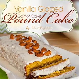 Vanilla Glazed Carrot Cake Pound Cake.