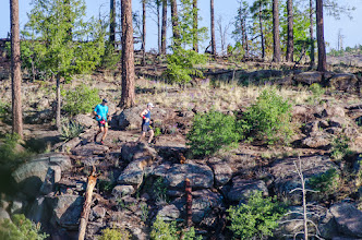 Photo: North side of Los Alamos Canyon; Jemez Mountains Trail Run, May 2014