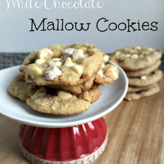 White Chocolate Mallow Cookies