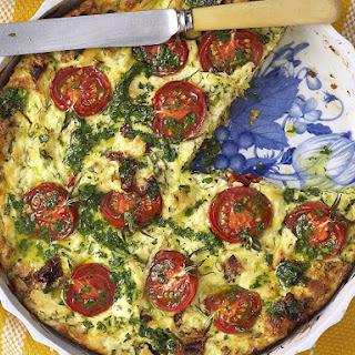 Zucchini, Tomato and Ricotta Bake