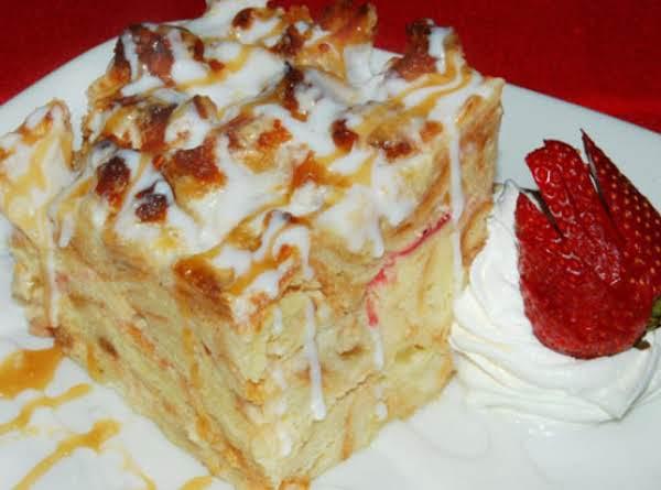 White Chocolate Bread Pudding_image