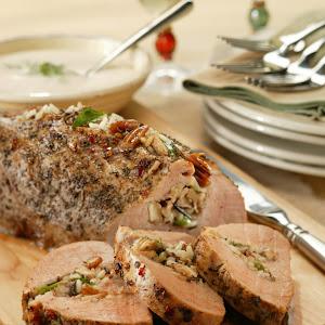 Italian-Stuffed Pork Tenderloin