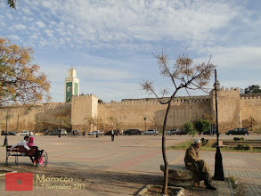 Photo: a park inside the walled imperial city of Meknes