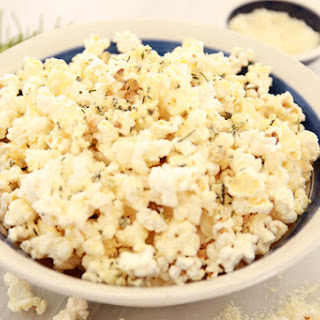 Microwave Cheese & Rosemary Popcorn
