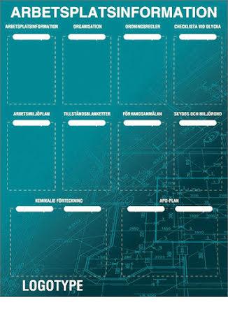 Arbetsplatstavla (API) med egen bild, 1300x1000mm