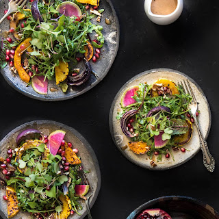 Roasted Winter Squash and Pomegranate Salad