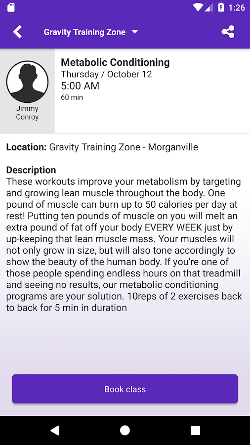 Gravity Training Zone- screenshot