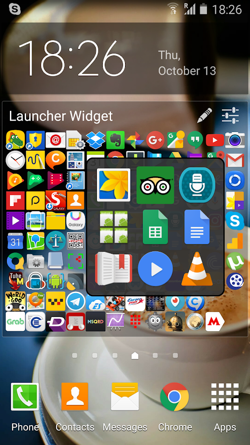 Launcher Widget- screenshot
