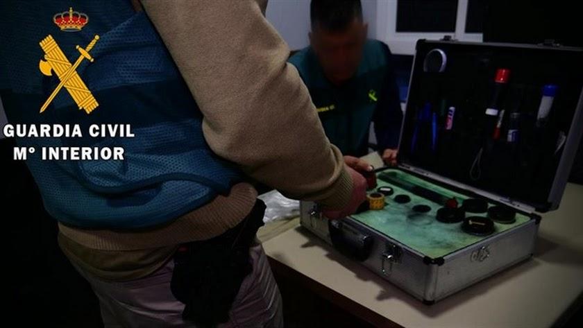 Imágenes de la operación cedidas por la Guardia Civil.