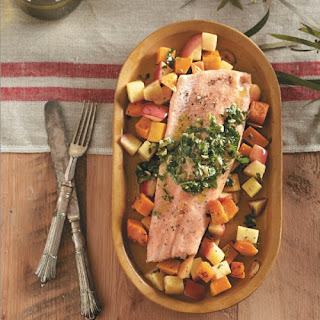 Roasted Trout with Braeburn Apples and Pepita Pesto Recipe