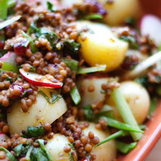 Apple Cranberry Lentils with New Potatoes