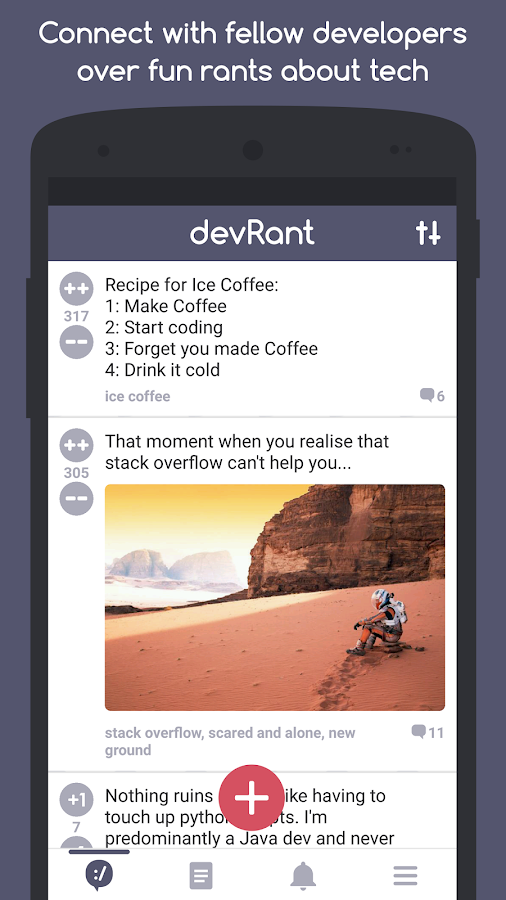 devRant- screenshot