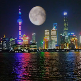 The moon by Evan Septian - Landscapes Travel ( #evan #indonesia #shanghai )