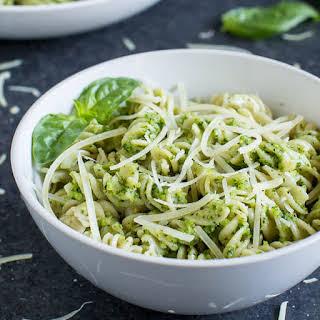 Kale Pesto with Brown Rice Pasta.