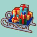 プレゼントいっぱいのソリ