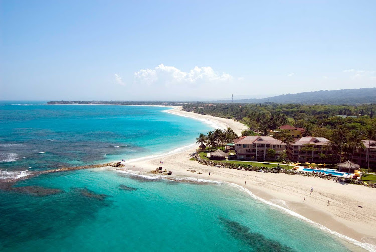 A tropical beach in the Dominican Republic.