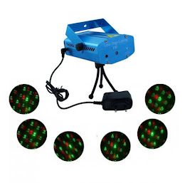 Mini proiector laser cu 6 proiectii de Craciun si senzor de muzica