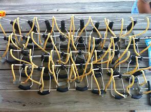 Photo: Folding wrist rockets