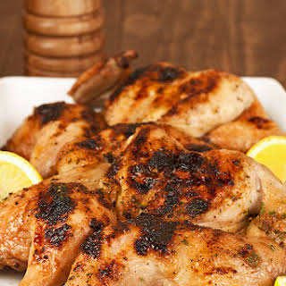 Grilled Cornish Hens.